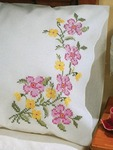 """Fragrant Floral - Stamped Pillowcase Pair 20""""X30"""" For Embroidery"""