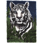 "White Tiger - Wonderart Latch Hook Kit 24""X34"""