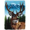 "Deer - Wonderart Classic Latch Hook Kit 20""X30"""