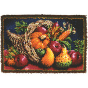 "Country Harvest - Wonderart Classic Latch Hook Kit 20""X30"""