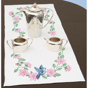 """Bird - Stamped Table Runner/Scarf 15""""X42"""""""