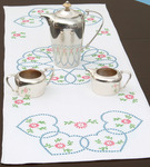 "Starburst Of Hearts - Stamped Table Runner/Scarf 15""X42"""