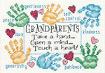 "7""X5"" 14 Count - Grandparents Touch A Heart Mini Counted Cross Stitch Kit"