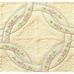 "Interlocking Wedding Rings - Stamped Ecru Quilt Blocks 18""X18"" 6/Pkg"