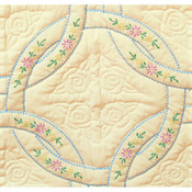 "Interlocking Wedding Rings - Stamped Ecru Quilt Blocks 18""X18"" 6/Pkg"