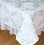 "Interlocking Wedding Rings - Stamped White Quilt Blocks 18""X18"" 6/Pkg"