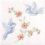 """Birds - Stamped White Quilt Blocks 18""""X18"""" 6/Pkg"""