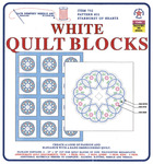 "Starburst Of Hearts - Stamped White Quilt Blocks 18""X18"" 6/Pkg"