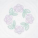 "Four XX Roses - Stamped White Quilt Blocks 18""X18"" 6/Pkg"