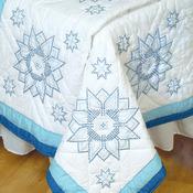"""XX Stars - Stamped White Quilt Blocks 18""""X18"""" 6/Pkg"""