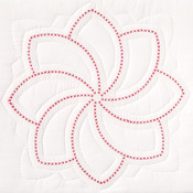 "XX Pinwheel - Stamped White Quilt Blocks 18""X18"" 6/Pkg"