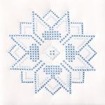 """XX Stars - Stamped White Quilt Blocks 9""""X9"""" 12/Pkg"""