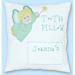 "Tooth Fairy - Stamped Tooth Fairy Pillow Cover 8""X8"""