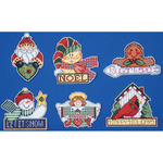 "3.5""X4"" 14 Count Set Of 6 - Signs Of Christmas Ornaments Counted Cross Stitch Ki"