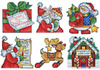 "3""X4"" 14 Count Set Of 6 - Santa's Workshop Ornaments Counted Cross Stitch Kit"