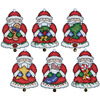 "3""X4"" Set Of 6 - Santa Ornaments Plastic Canvas Kit"