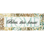 "7""X18"" 14 Count - Bless This House Counted Cross Stitch Kit"