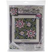 "10""X10"" Stitched In Yarn - Artful Flowers Needlepoint Kit"