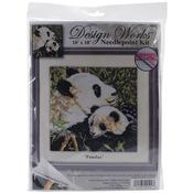 "10""X10"" Stitched In Yarn - Pandas Needlepoint Kit"