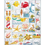 """16""""X20"""" 14 Count - Ocean ABC Counted Cross Stitch Kit"""