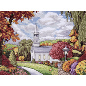 """9""""X12"""" 14 Count - Fall Inspiration Counted Cross Stitch Kit"""