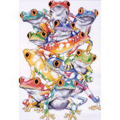 """11""""X16"""" 14 Count - Frog Pile Counted Cross Stitch Kit"""