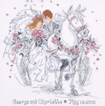"12""X12"" 18 Count - Wedding Carriage Counted Cross Stitch Kit"