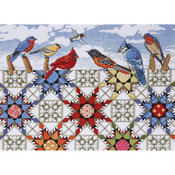 """12""""X16"""" 14 Count - Feathered Stars Counted Cross Stitch Kit"""