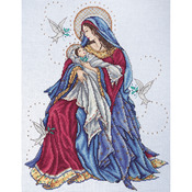 """12""""X15"""" 14 Count - Madonna & Child Counted Cross Stitch Kit"""