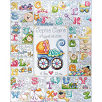 "16""X20"" 14 Count - Baby ABC Counted Cross Stitch Kit"