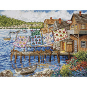 """12""""X16"""" 14 Count - Dockside Quilts Counted Cross Stitch Kit"""