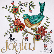 "10""X10"" 14 Count - Heartfelt Be Joyful Counted Cross Stitch Kit"