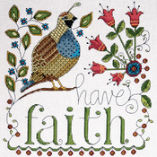 "10""X10"" 14 Count - Heartfelt Have Faith Counted Cross Stitch Kit"