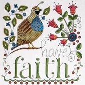 "10""X10"" 14 Count - Heartfelt Have Faith Counted Cross Stitch Kit"