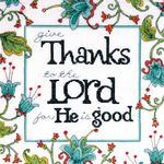 "10""X10"" 14 Count - Heartfelt Give Thanks Counted Cross Stitch Kit"