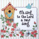 "10""X10"" 14 Count - Heartfelt A New Song Counted Cross Stitch Kit"