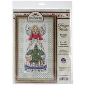 """9""""X15"""" 14 Count - Winter Angel-Jim Shore Counted Cross Stitch Kit"""