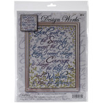 "12""X16"" 14 Count - Serenity Prayer Floral Counted Cross Stitch Kit"