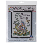"8""X10"" 14 Count - Friends Forever (Turtle) Counted Cross Stitch Kit"