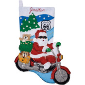 "16"" Long - Route 66 Stocking Felt Applique Kit"