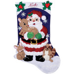 "16"" Long - Forest Friends Stocking Felt Applique Kit"