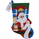 "18"" Long - Santa's List Stocking Felt Applique Kit"