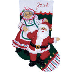 "18"" Long - Dancing Claus Stocking Felt Applique Kit"