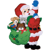 "13""X18"" - Santa And Friends Wall Hanging Felt Applique Kit"