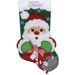 "18"" Long - Santa's Present Stocking Felt Applique Kit"