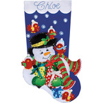 "18"" Long - Snowman & Cardinals Stocking Felt Applique Kit"