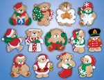 "3""X4"" Set Of 13 - Lots Of Bears Ornaments Felt Applique Kit"