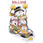 """17"""" Long 14 Count - Let It Snow Stocking Counted Cross Stitch Kit"""