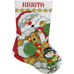 """17"""" Long 14 Count - Santa Stocking Counted Cross Stitch Kit"""