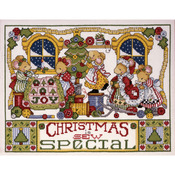 """11""""X14"""" 14 Count - Christmas Is Sew Special Counted Cross Stitch Kit"""